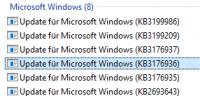 Windows 10 installierte Updates