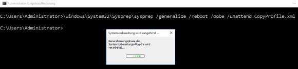sysprep.exe für CopyProfile ausführen