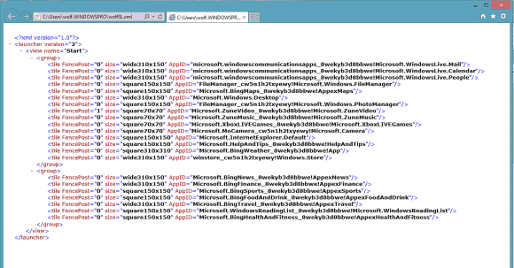 Die exportierten Einstellungen der Startseite sind überschaubar und lassen sich für GPOs nur im XML-Format nutzen.