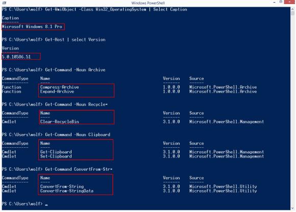 Mehrere von Windows 10 bekannte Cmdlets stehen nun auch unter Windows 8.1 zur Verfügung.