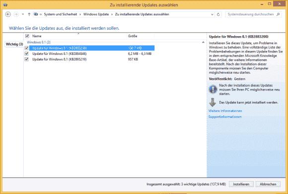 Im Gegensatz zum Upgrade kommt das Rollup als Update, das man auch über WSUS verteilen kann.
