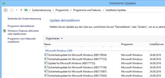 Windows Updates über die Systemsteuerung verwalten