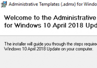 Installation der ADMX-Vorlagen für Windows 10 1803