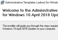 Installation der ADMX-Vorlagen für Windows 10 1803