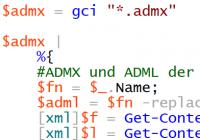 ADMX-Dateien auslesen mit PowerShell