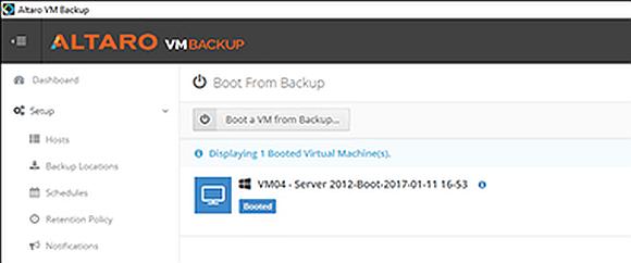 Das Booten einer VM aus dem Backup gehört zu den Neuerungen der Version 7.