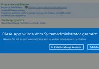 App wurde vom Systemadministrator gesperrt