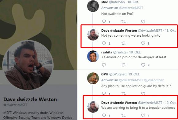 In Zukunft könnte Application Guard auch in der Pro Edition verfügbar sein.