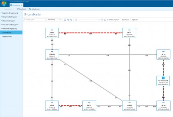 Das Release 2 bMS 2017 bringt eine neue Visualisierung aller gefundenen Netzwerkgeräte.