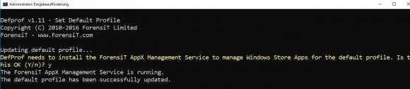 DefProf kopiert das Profil eines Muster-Users auf das Standardprofil
