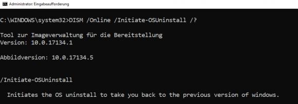 Mit DISM zur alten Windows-10-Installation zurückkehren