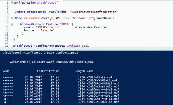 """.mof-Dateien werden nur für die Rechner erzeugt, deren OS mit """"Windows 10"""" beginnt"""