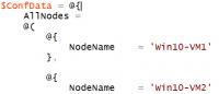 DSC Configuration Data