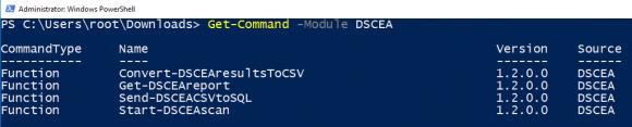 Das Modul DSCEA enthält 4 Cmdlets