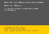 ESXi 7.0 DCUI