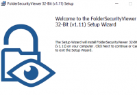 Setup des FolderSecurtiyViewer