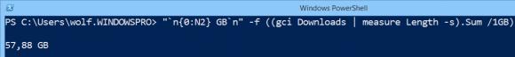 Dateigrößen in GB konvertieren und mit dem Formatoperator aufbereiten