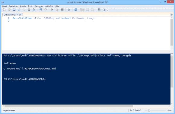 Will man mehrere Eigenschaften eines Objekts ausgeben, dann übergibt man ihre Namen als Komma-separierte Liste an Select-Object.