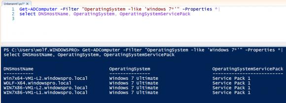 Installierte Service Packs von Rechnern mit Windows 7 anzeigen