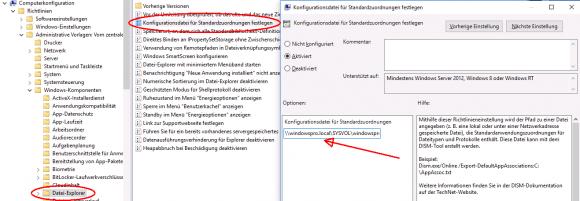 XML-Datei mit den Zuordnungen der Standardprogramme über ein GPO verteilen.