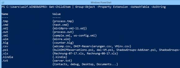 Daten gruppieren und als Hash-Tabelle aufbereiten