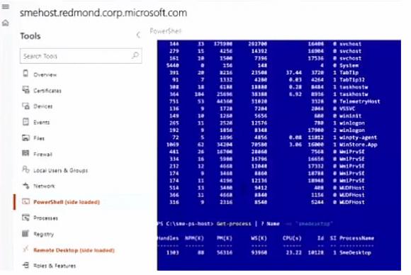 Auf der Ignite zeigt Microsoft die Integration von PowerShell und des RDP-Clients.