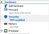 TPM-Einstellungen im Hyper-V-Manager