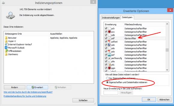 Der Klartextfilter springt ein, wenn kein iFilter für ein Dateiformat existiert. Aus PDF kann er keine Inhalte auslesen.