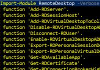 PowerShell-Modul RemoteDesktop importieren