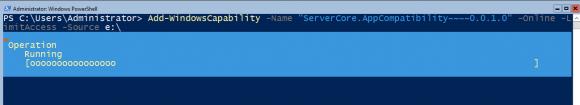 Hinzufügen der Server Core App Compatibility mittels PowerShell