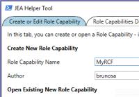 Role Capabilty File im JEA Helper Tool bearbeiten