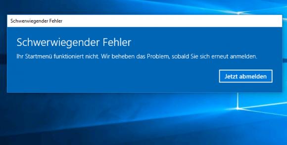 Geht man bei der Bereitstellung von verbindlichen Profilen so vor wie bei Windows 7, dann funktioniert das Startmenü nicht.