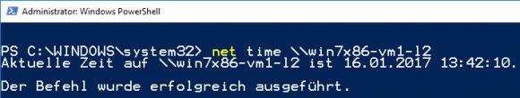Ausgabe der Systemzeit von einem entfernten PC mit net /time