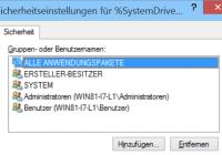 Dateiberechtigungen Windows Explorer