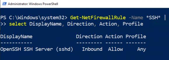 Firewall-Regel für SSH prüfen