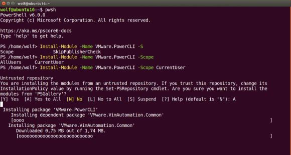 Installation von VMware PowerCLI unter Ubuntu