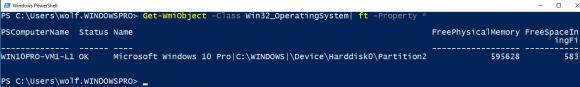 Seit PowerShell 5 übernimmt ft nur die Eigenschaften, die in auf eine Seite passen.
