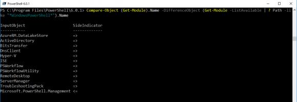 PowerShell Core kann einige Module der Windows-Version nicht laden.