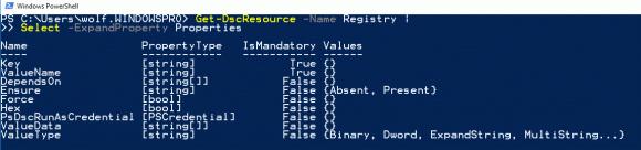 Eigenschaften der DSC-Ressource Registry