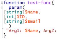 Parameter in einer PowerShell-Funktion definieren