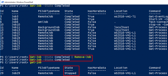 PowerShell-Jobs löschen mit Remove-Job.