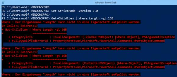 Der Strict Mode 2.0 verhindert das Verwenden von nicht vorhandenen Objekt-Eigenschaften.