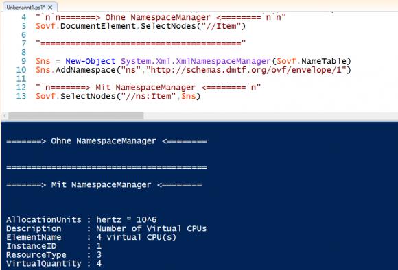 Wenn in einem XML-Dokument Namespaces definiert sind, dann ergibt eine einfache XPath-Abfrage kein Ergebnis.