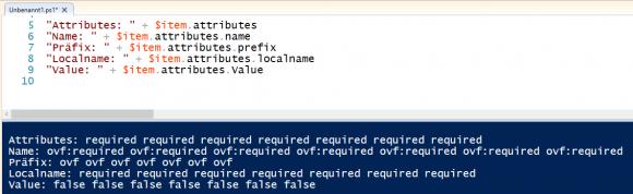 Zugriff auf die Attribute eines XML-Dokuments