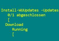 Updates über PowerShell installieren