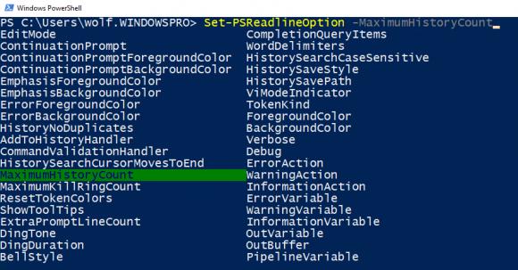 Alle verfügbaren Parameter eines Cmdlets anzeigen mit STRG + Leertaste
