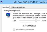 Auflösung für VM unter Hyper-V ändern