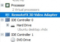 Remote FX 3D Video Adapter im Hyper-V Manager