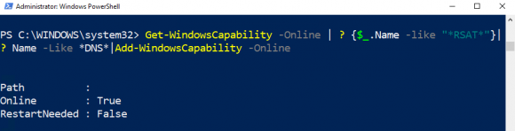 Installation des DNS-Managers als optionales Feature über PowerShell