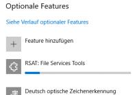 Hinzufügen eines RSAT-Programms als optionales Feature